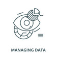 managing data line icon linear concept vector image vector image