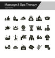 massage and spa therapy icons glyph design for vector image vector image