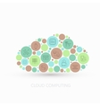 modern concept cloud with flat outline vector image