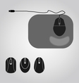 Mouse set vector image