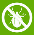 no bug sign icon green vector image vector image