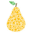 pear mosaic of triangles vector image