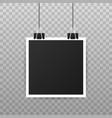 photo frame mockup design realistic photograph vector image vector image