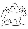 polar bear logo outline style vector image