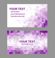 Purple rectangle design business card template vector image vector image