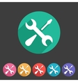 Repair icon flat web sign symbol logo label set vector image
