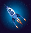 rocket flying in sky vector image vector image