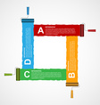 roller brush infographics options banner design vector image vector image