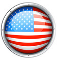 round icon for flag of america vector image vector image