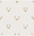 seamless pattern minimalist background with deer vector image vector image