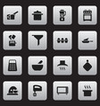 set of 16 editable cooking icons includes symbols vector image