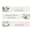 set vintage labels with flowers frame vector image vector image