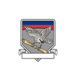 Shrike Clutching Propeller Blade Shield Retro vector image vector image