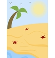 Summer sunny beach vector image