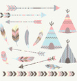 Tribal Tee pee Tents Collections vector image