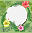 tropical backdrop with frame or border made of vector image