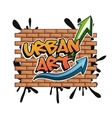 Urban art and graffiti design vector image vector image