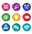 Watercolor business icons round vector image vector image