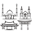 with places of worship vector image