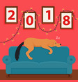 year of the dog 2018 new year s design on vector image