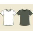 Black and white t-shirt design template vector image
