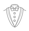 smoking suit line icon vector image