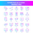 25 blue and pink futuro marketing icon pack vector image vector image