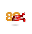 80 year anniversary template design vector image vector image