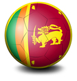 A soccer ball with the flag of Sri Lanka vector image