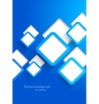 Background with blue squares vector image vector image