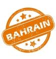Bahrain grunge icon vector image vector image