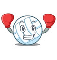 boxing volley ball character cartoon vector image