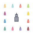 building flat icons set vector image vector image