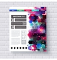 Business Web Template with Abstract Designs vector image vector image