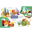 cartoon food infographic concept vector image vector image