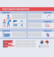 child health infographic set - medicine statistic vector image