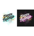 christmas lettering greeting cards vector image vector image