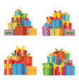 christmas presents in gift boxes birthday present vector image