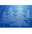 Christmas trees splatter background vector image vector image