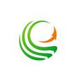 circle sphere abstract arrow logo vector image vector image