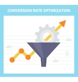 Conversion optimization banner in flat style - vector image vector image