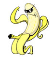 cool banana wearing sunglasses muscular rolling vector image