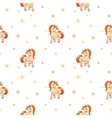 Cute seamless pattern with little cartoon pony vector image vector image
