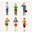 for business people vector image