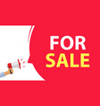 for sale rental advertising banner or sell vector image vector image