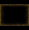 gold glitter background gold frame sparkles on vector image