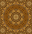 golden floral ornament background vector image vector image