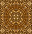 golden floral ornament background vector image