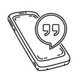 hangout icon doodle hand drawn or outline icon vector image