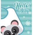 hello baby card vector image